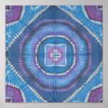 Tie Dye Circles and Squares Print