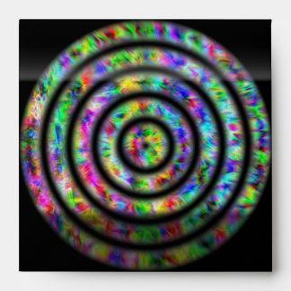 Tie Dye Circles Envelope