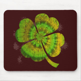 Tie Dye Clover Mouse Pad