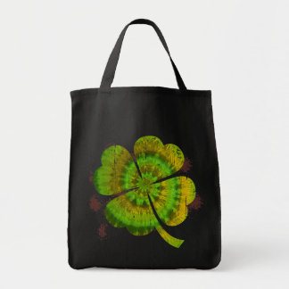 Tie Dye Clover Tote Bag