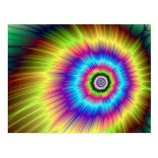 Tie-dye Color Explosion Postcard