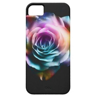 Tie Dye Colorful Rose