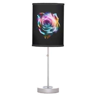 Tie Dye Colorful Rose Table Lamp