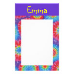 Tie dye customizable stationary custom stationery