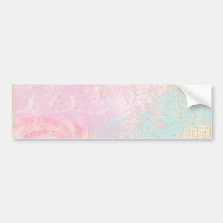 Tie Dye Damask Bumper Sticker