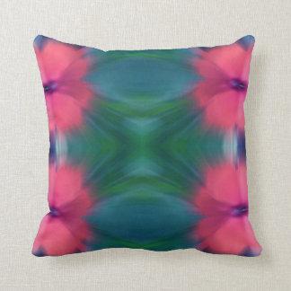 Tie-Dye Design Pink & BLue Throw Pillow