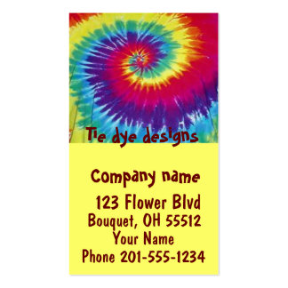 Tie dye designs Business Card Pack Of Standard Business Cards