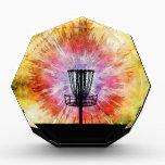 "Tie Dye Disc Golf Basket Acrylic Award<br><div class=""desc"">Enjoy this colorful tie dye disc golf basket graphic design.</div>"