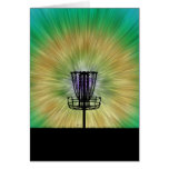 Tie Dye Disc Golf Basket Card