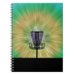 Tie Dye Disc Golf Basket Note Book