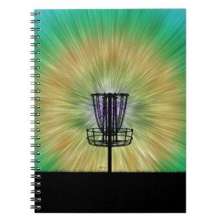 Tie Dye Disc Golf Basket Notebook