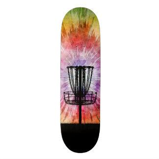 Tie Dye Disc Golf Basket Skateboard