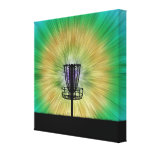 Tie Dye Disc Golf Basket Stretched Canvas Prints