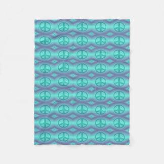 Tie Dye Effect Peace Sign Fleece Blanket