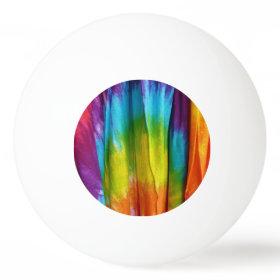 Tie-Dye Fabric Print Ping Pong Ball