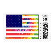 Tie dye flag 2 postage