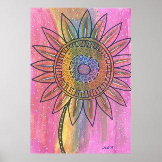 Tie Dye Flower Poster
