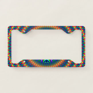 Tie Dye Fractal License Plate Frame