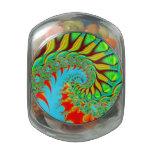 tie dye fractal swirl cookie candy jar glass jars