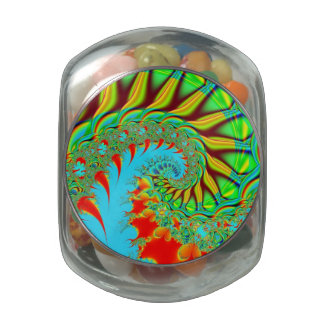 tie dye fractal swirl cookie candy jar jelly belly candy jar