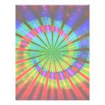 Tie-Dye Groovy Rainbow Personalized Letterhead
