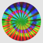 Tie-Dye Groovy Rainbow Round Stickers