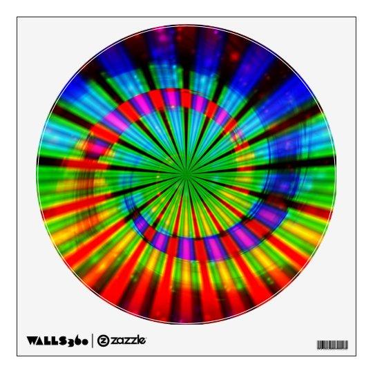 Tie-Dye Groovy Rainbow Wall Decal