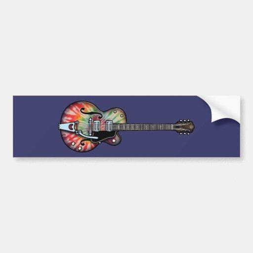Tie Dye Guitar Bumper Stickers
