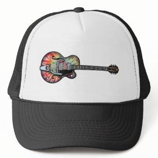 Tie Dye Guitar Trucker Hat