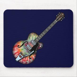 Tie Dye Guitar Mouse Pad