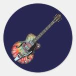 Tie Dye Guitar Sticker