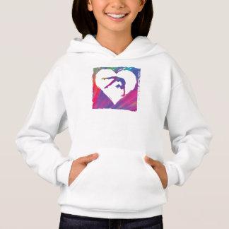 Tie Dye Gymnastics Pattern Hoodie