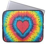 Tie dye heart laptop sleeve