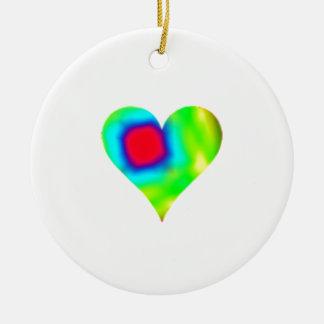 Tie Dye Heart Product Ceramic Ornament