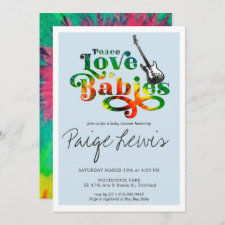 Tie Dye Hippie Baby Shower Invitation