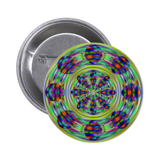 Tie Dye Hippie Kaleidoscaope Swirls 2 Inch Round Button