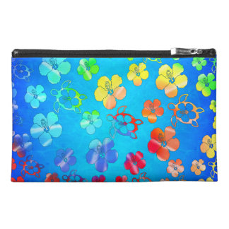 Tie Dye Honu And Hibiscus Travel Accessory Bags