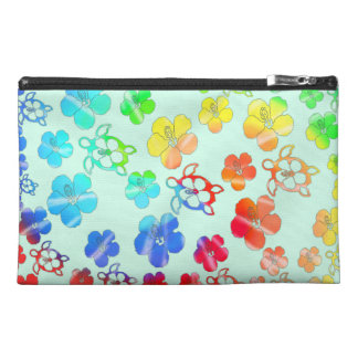 Tie Dye Honu And Hibiscus Travel Accessories Bag