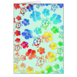 Tie Dye Honu And Hibiscus Cards