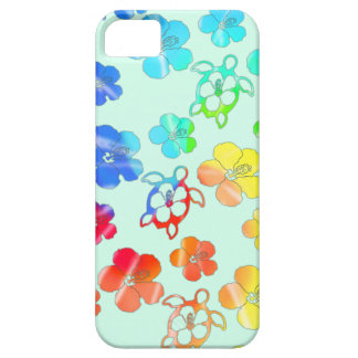 Tie Dye Honu And Hibiscus iPhone SE/5/5s Case