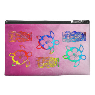 Tie Dye Honu And Tiki Mask Travel Accessory Bag
