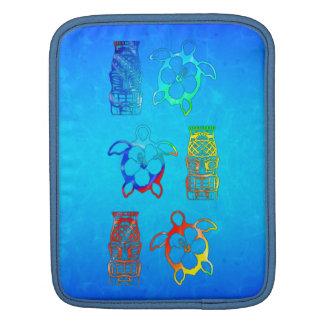 Tie Dye Honu And Tiki Mask iPad Sleeve