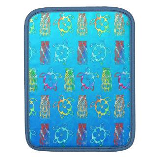 Tie Dye Honu And Tiki Mask iPad Sleeves
