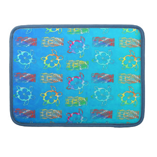 Tie Dye Honu And Tiki Mask Sleeves For MacBook Pro