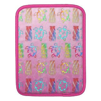 Tie Dye Honu And Tiki Mask Sleeve For iPads