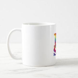 Tie Dye I love science mug