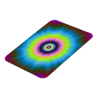 Tie-Dye in Blue Pink Yellow Photo Magnet Rectangular Magnet