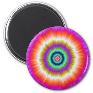 Tie-Dye in Violet Red and Green Magnet Refrigerator Magnet