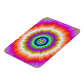 Tie-Dye in Violet Red and Green Photo Magnet Rectangular Magnet