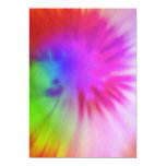 "Tie Dye Invitations 5"" X 7"" Invitation Card"